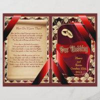 Wedding Program (Bifold Design)