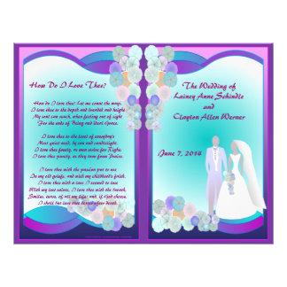 Wedding Program (Bifold Design) Flyers