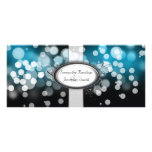 Wedding Program - Blue & Silver Bright Lights Custom Rack Cards