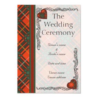 Wedding program -  Bruce Scottish Tartan 5x7 Paper Invitation Card