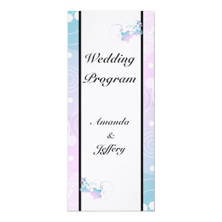 Wedding Program | Bubble Star Fairy Tale 4x9.25 Paper Invitation Card