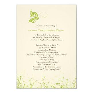 Wedding Program ~ Butterfly Garden 10 Card
