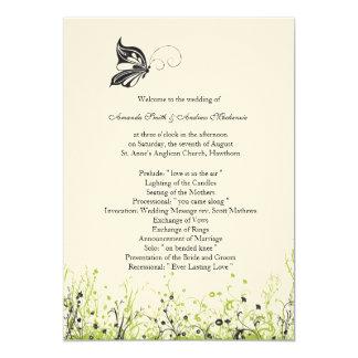 Wedding Program ~ Butterfly Garden 2 Card