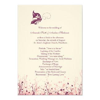 Wedding Program ~ Butterfly Garden 3 Card
