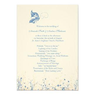 Wedding Program ~ Butterfly Garden 4 Card