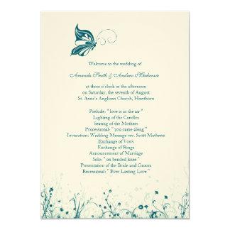 Wedding Program ~ Butterfly Garden 6 Card
