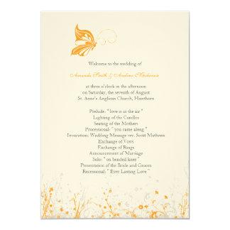 Wedding Program ~ Butterfly Garden 8 Card