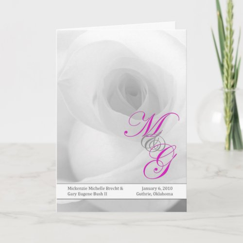 Wedding Program card