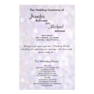 Wedding Program | Elegant Bokeh Lights
