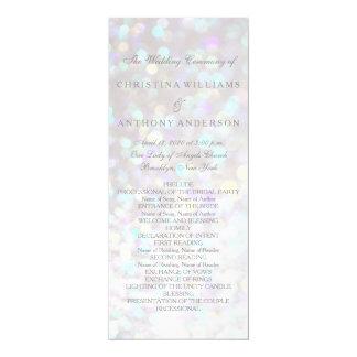 Wedding Program Elegant Bokeh Lights