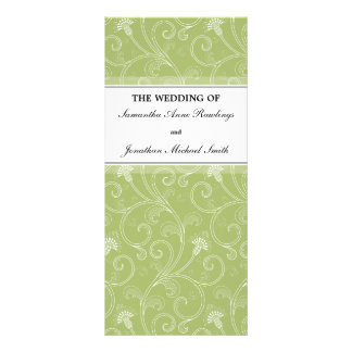 Wedding Program - Elegant Sage Green Victorian