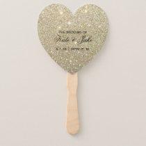 Wedding Program Fan - Gold Glitter Fab