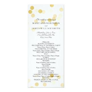Wedding Program Faux Gold Foil Glitter Lights