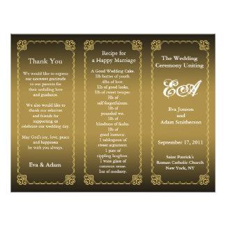 Wedding Program Folder Classic Gold