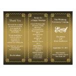 Wedding Program Folder Classic Gold Flyers