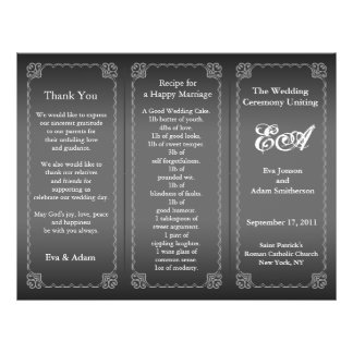 Wedding Program Folder Classic Silver Gray