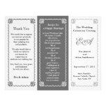 Wedding Program Folder Grey Tint Flyer