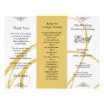 Wedding Program Folder Twirl Amber Grey Custom Flyer