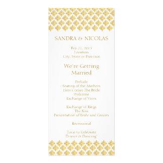 Wedding Program Gold Arabesques