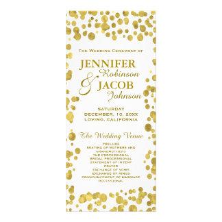 Wedding Program | Gold Confetti Celebration