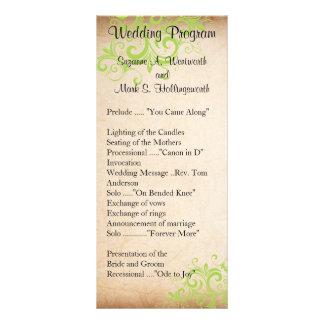 Wedding Program - Green Rack Card Design