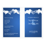 Wedding Program Grunge Hearts Blue Flyers