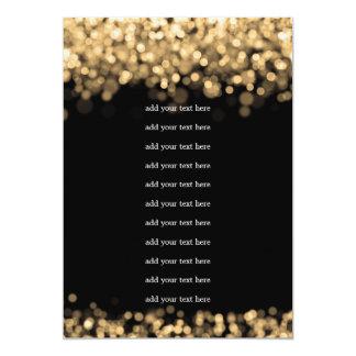 Wedding Program Insert Gold Lights 5x7 Paper Invitation Card