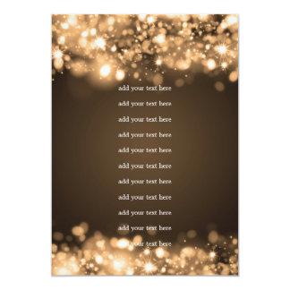 Wedding Program Insert Sparkling Lights Gold 5x7 Paper Invitation Card