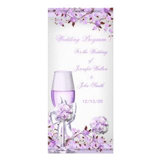 Wedding Program Lavender Purple Lilac Blossom 4