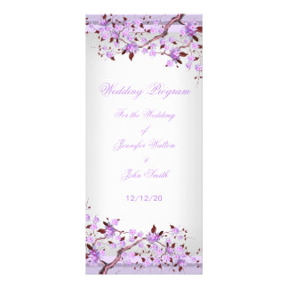 Wedding Program Lavender Purple Lilac Blossom Rack Cards