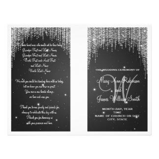 Wedding Program Night Dazzle Black Flyers