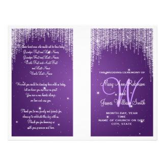 Wedding Program Night Dazzle Purple