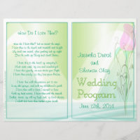 Wedding Program (non-religious version)