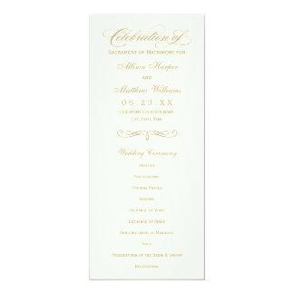 Wedding Program Panel | Gold Calligraphy Design