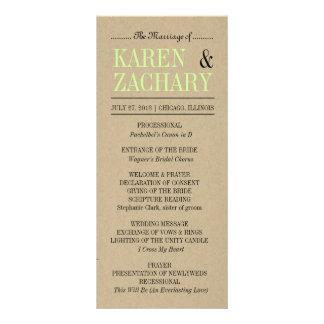 Wedding Program Personalized Rack Card