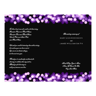 Wedding Program Purple Hollywood Glam