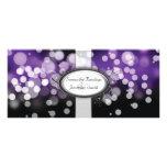 Wedding Program - Purple & Silver Bright Lights Personalized Rack Card