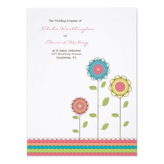 Wedding Program Rainbow Tall Flower Blooms