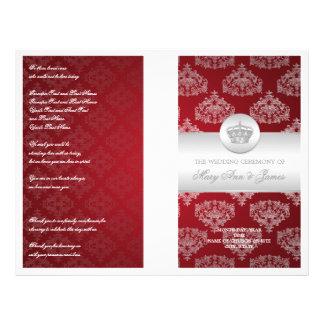 "Wedding Program Royal Crown Red 8.5"" X 11"" Flyer"