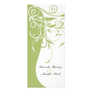 Wedding Program - Sage Green Contrasting Floral