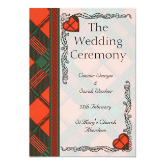 Wedding program - Scott Scottish Tartan 5x7 Paper Invitation Card