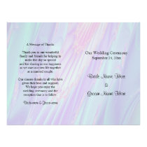 Wedding Program, Seashell Style Pattern. Flyer