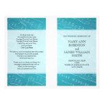 Wedding Program Sheet Music Blue Flyer