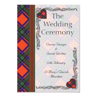 Wedding program -  Sinclair Scottish Tartan