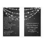 "Wedding Program Sparkling Chain Black 8.5"" X 11"" Flyer"