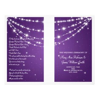 Wedding Program Sparkling Chain Purple