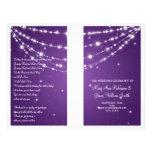 "Wedding Program Sparkling Chain Purple 8.5"" X 11"" Flyer"