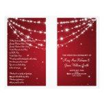 "Wedding Program Sparkling Chain Red 8.5"" X 11"" Flyer"