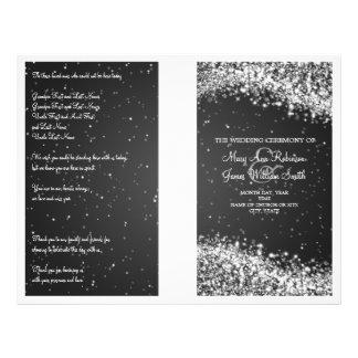Wedding Program Sparkling Wave Black