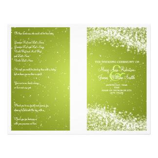 Wedding Program Sparkling Wave Lime Flyer Design